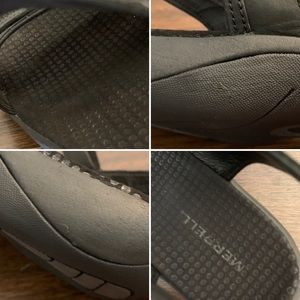 Merrell Shoes - Merrell Dahlia Black Leather Sport Hiking Sandals